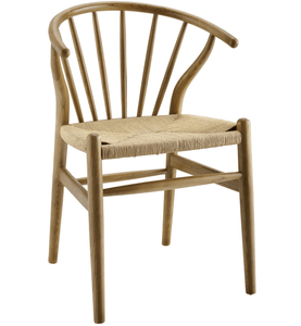 Curved Spindle Wood Dining Side Chair (2682836746325)
