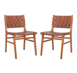 Cognac Dining / Accent Chair - Set of 2 (4480338198613)