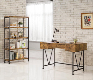Barritt Industrial Antique Nutmeg Bookcase (2682817740885)