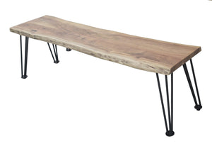 The Modern Acacia Dining Bench (2682815217749)