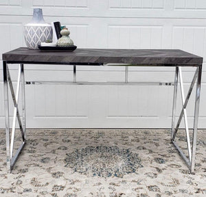 Grimma Writing Desk Rustic Grey Herringbone (2682817380437)