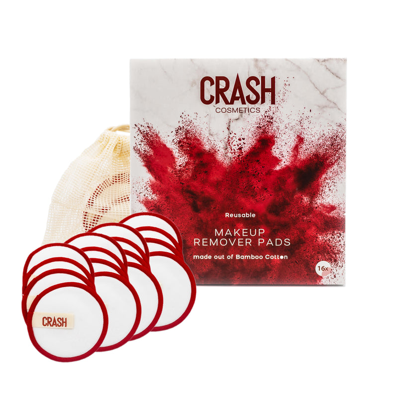 CRASH Makeup Remover Pads (16x) made out of Bamboo Cotton