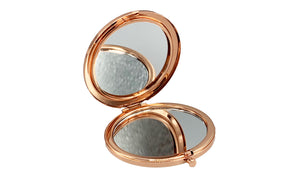 CRASH Make-up Hand-Spiegel Rose Gold