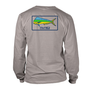 Boy's Long Sleeve UV50 - RWP - Mahi Patch - Granite