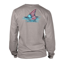 Load image into Gallery viewer, Youth - LS - Rig & Water - Patriotic Fin - Granite