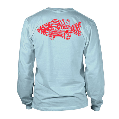 Women's UV50 Long Sleeve Shirt - Fish Inception - Sky Blue