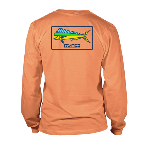 Boy's Long Sleeve UV50 -RWP - Mahi Patch - Melon