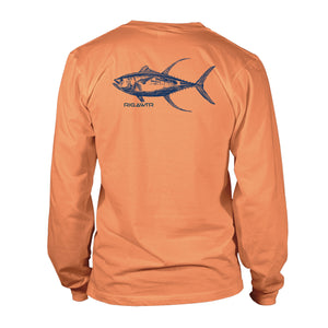 Men's Long Sleeve Performance UV50 - Tuna Detail - Melon