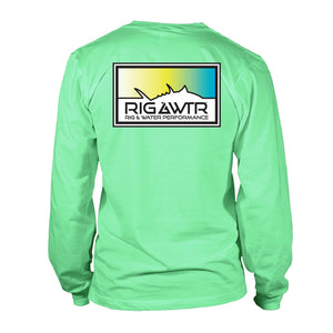 Men's Long Sleeve Performance UV50 - Tuna Patch - Mint