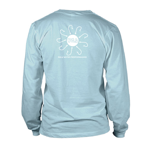 Boy's Long Sleeve UV50 - RWP - Pinwheel - Sky Blue