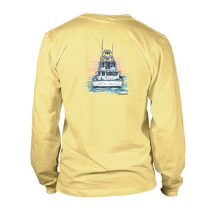 Men's UV50 Long Sleeve Shirt - Charter Boat - Yellow