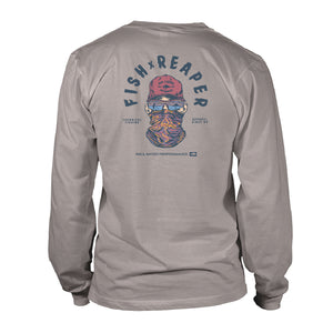 Boy's Long Sleeve UV50 T-shirt - Rig & Water - Fish Reaper - Granite