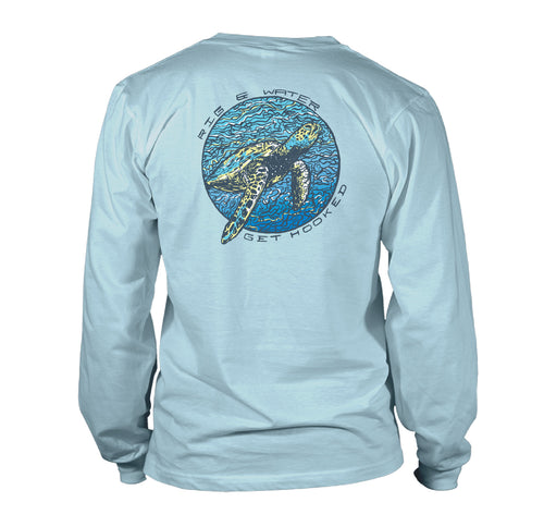 Women's - Long Sleeve UV50 - Sea Turtle - Sky Blue