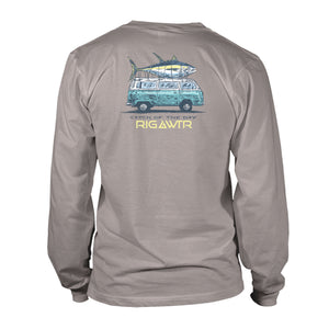 Men's Long Sleeve UV50 Performance Tee - Catch of the Day - Granite