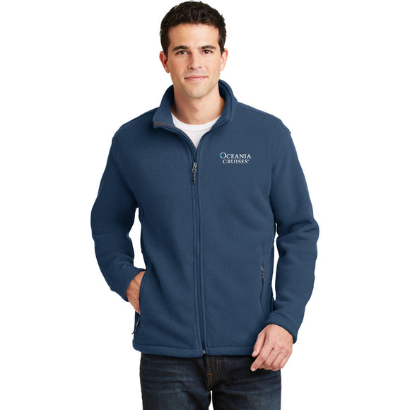Oceania Men's Fleece Jacket in Insignia Blue