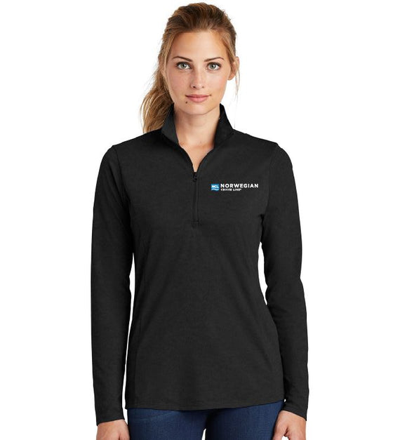Ladies PosiCharge ® Tri-Blend Wicking 1/4-Zip Pullover
