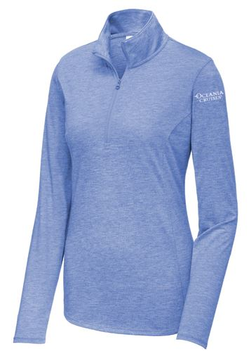 Oceania Ladies Sport-Wick Textured 1/4-Zip Pullover