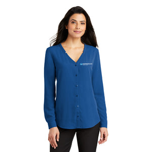 NCL Ladies Long Sleeve Button-Front Blouse
