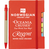 NCL, Regent & Oceania Branded Recycled Sticky Notebook with Pen