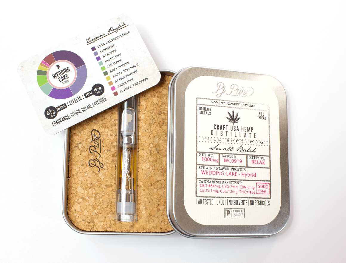 Primary Jane CBD Oil Cartridge -  Wedding Cake