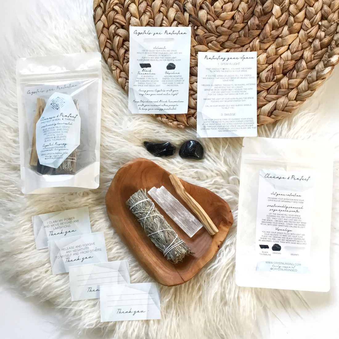 Cleanse and Protect Ritual Kit  - for sale  online at Modest Hemp Co.