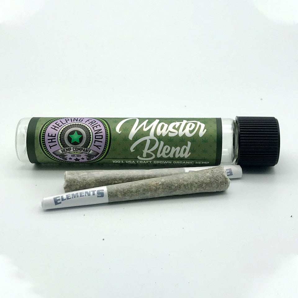 Helping Friendly CBD Hemp Flower- Master Blend PreRoll