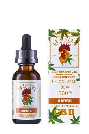 El Gallo CBD Oil Tincture - Anise 30ml at Modest Hemp Co.