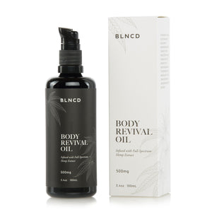 BLNCD Naturals CBD Body Revival Oil at Modest Hemp Co.