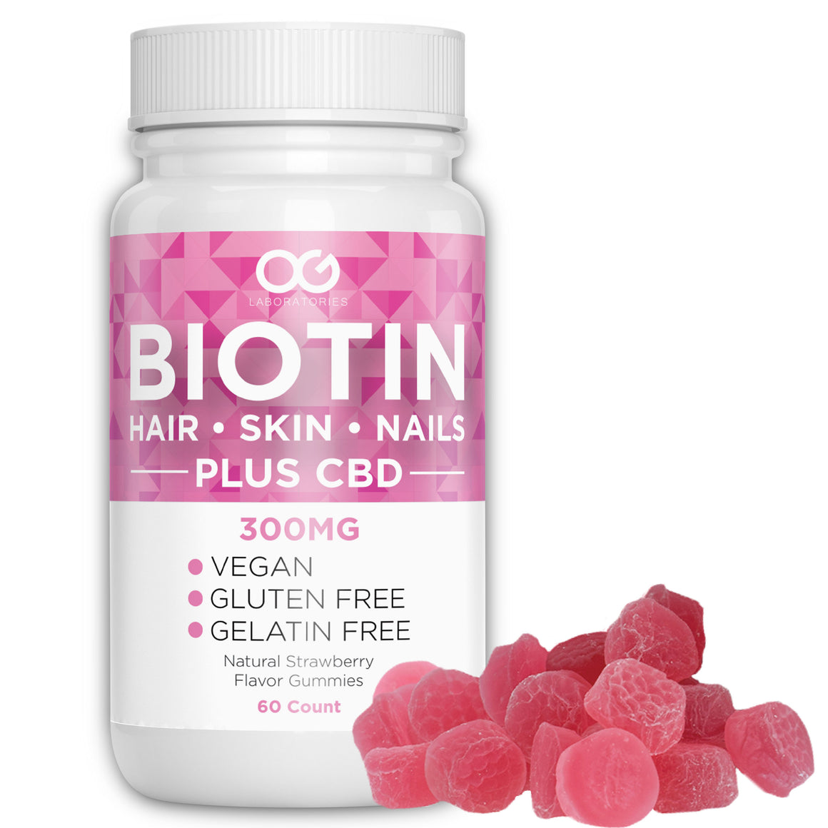 OG Labs CBD Gummies - Biotin 300mg at Modest Hemp Co.