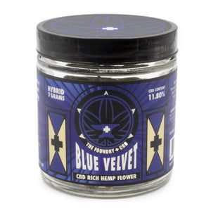 Foundry CBD Hemp Flower - Blue Velvet at Modest Hemp Co. 7g