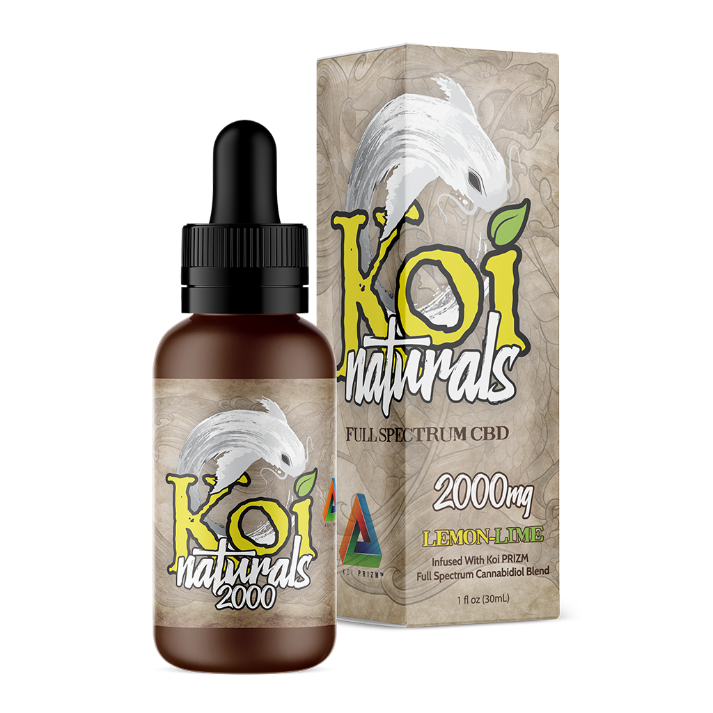 Koi Naturals CBD Oil Tincture 30ml - Lemon Lime at Modest Hemp Co.