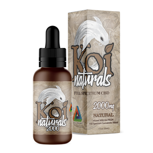 Koi Naturals CBD Oil Tincture 30ml - Natural at Modest Hemp Co.