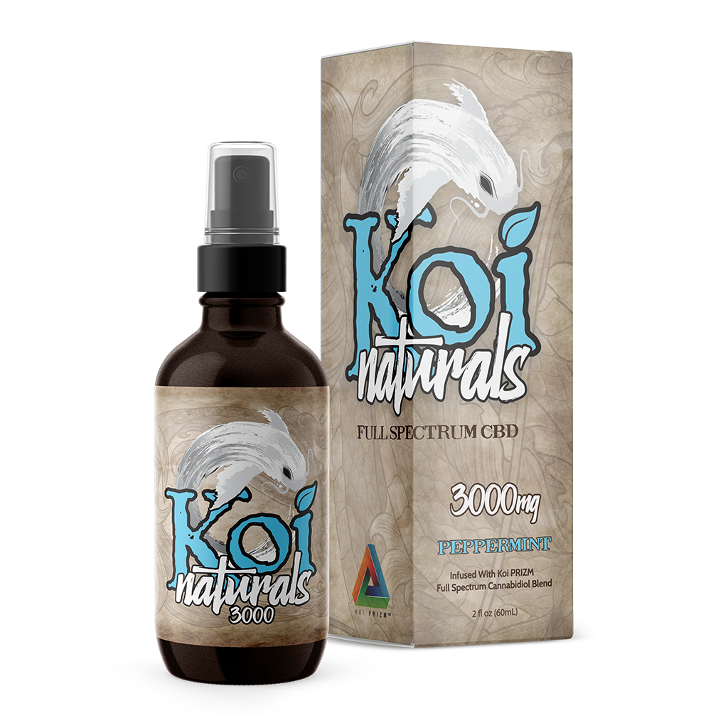 Koi Naturals CBD Oil Tincture Spray 60ml - Peppermint at Modest Hemp Co.