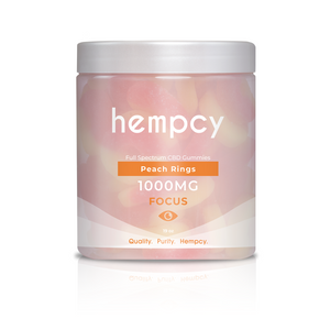 Hempcy CBD Gummies- Peach Rings at Modest Hemp Co.