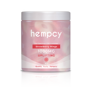 Hempcy CBD Gummies- Strawberry Rings