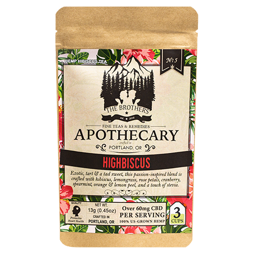 Hibiscus CBD Tea - The Brother's Apothecary at Modest Hemp Co.