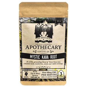 Mystic Kava Root CBD Tea from The Brother's Apothecary at Modest Hemp Co.