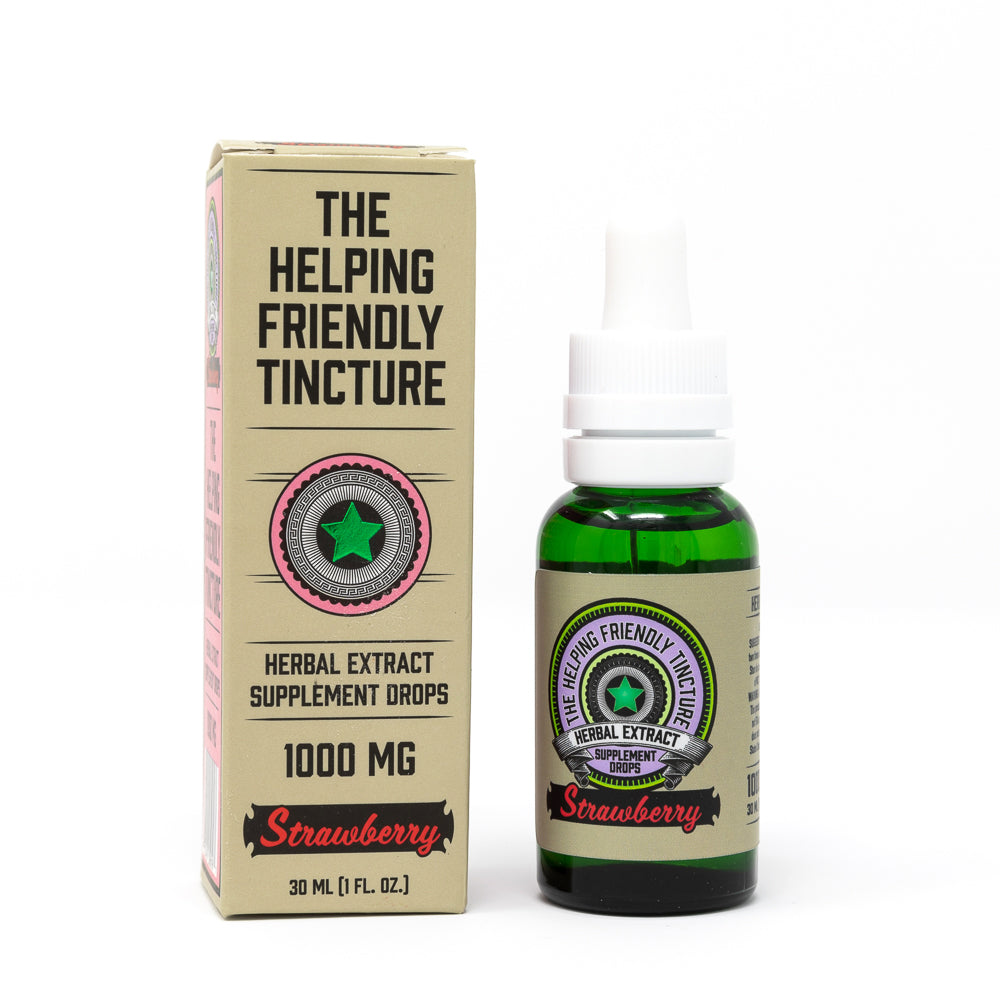 Helping Friendly CBD Oil Tincture - Strawberry Tincture at Modest Hemp Co.