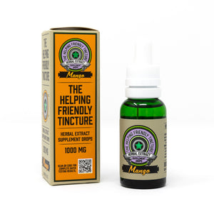 Helping Friendly CBD Oil Tincture- Mango 30ml
