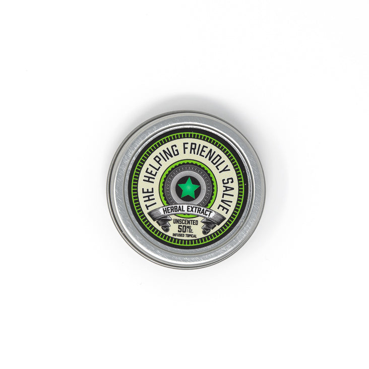 Helping Friendly CBD Topical- Unscented Salve 50mg