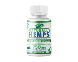 Naturally Hemp 750mg Gel Capsules with Melatonin at Modest Hemp Co.