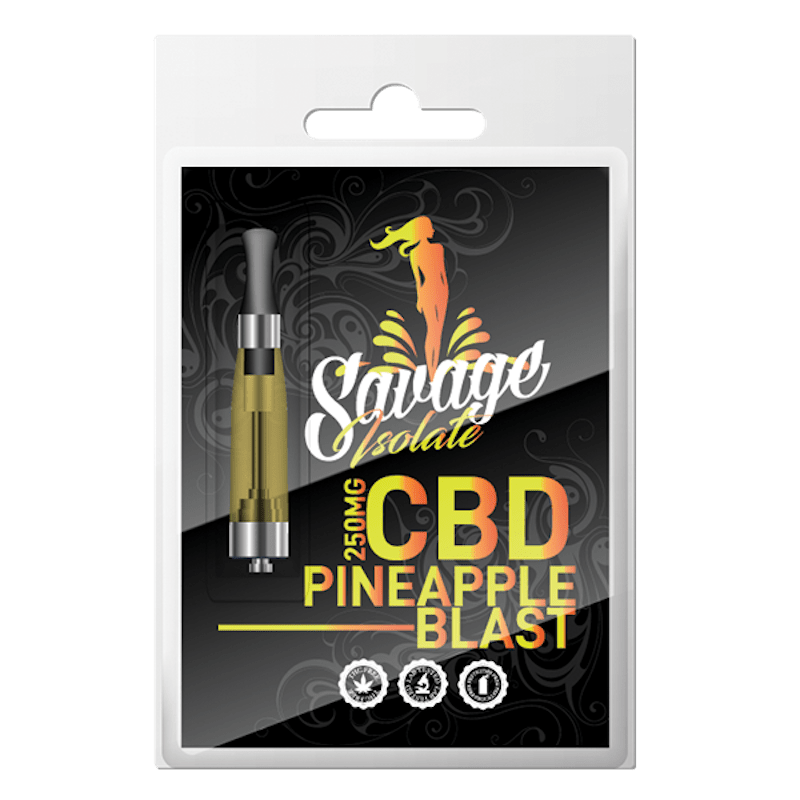 Savage CBD Vape Cartridge - Pineapple Blast 250mg at Modest Hemp Co.