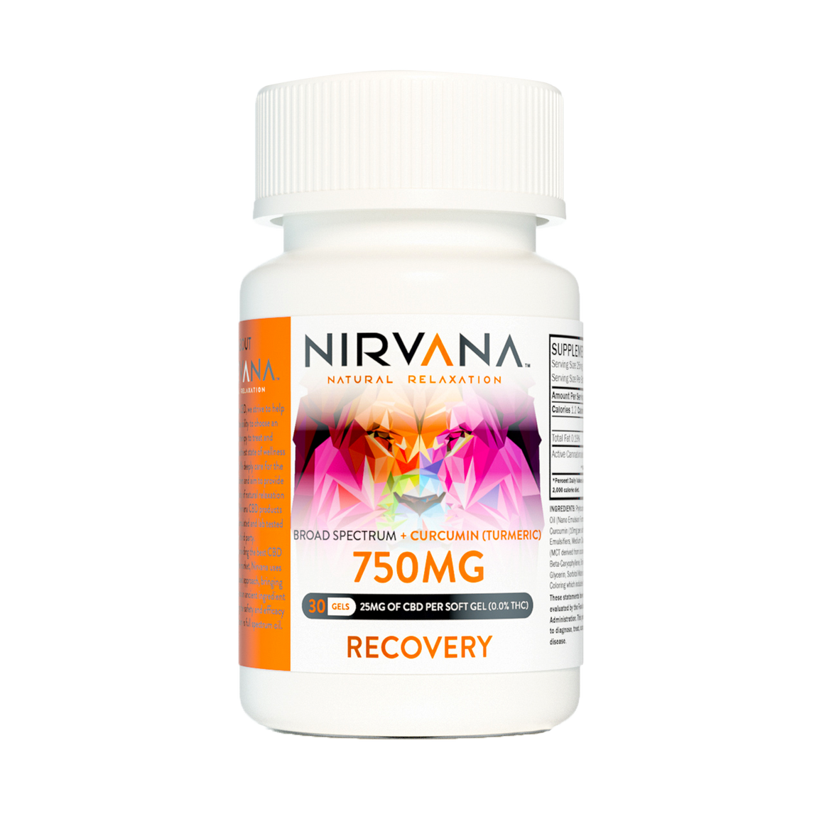 Nirvana CBD Capsules- Recovery Gel Caps at Modeset Hemp Co.