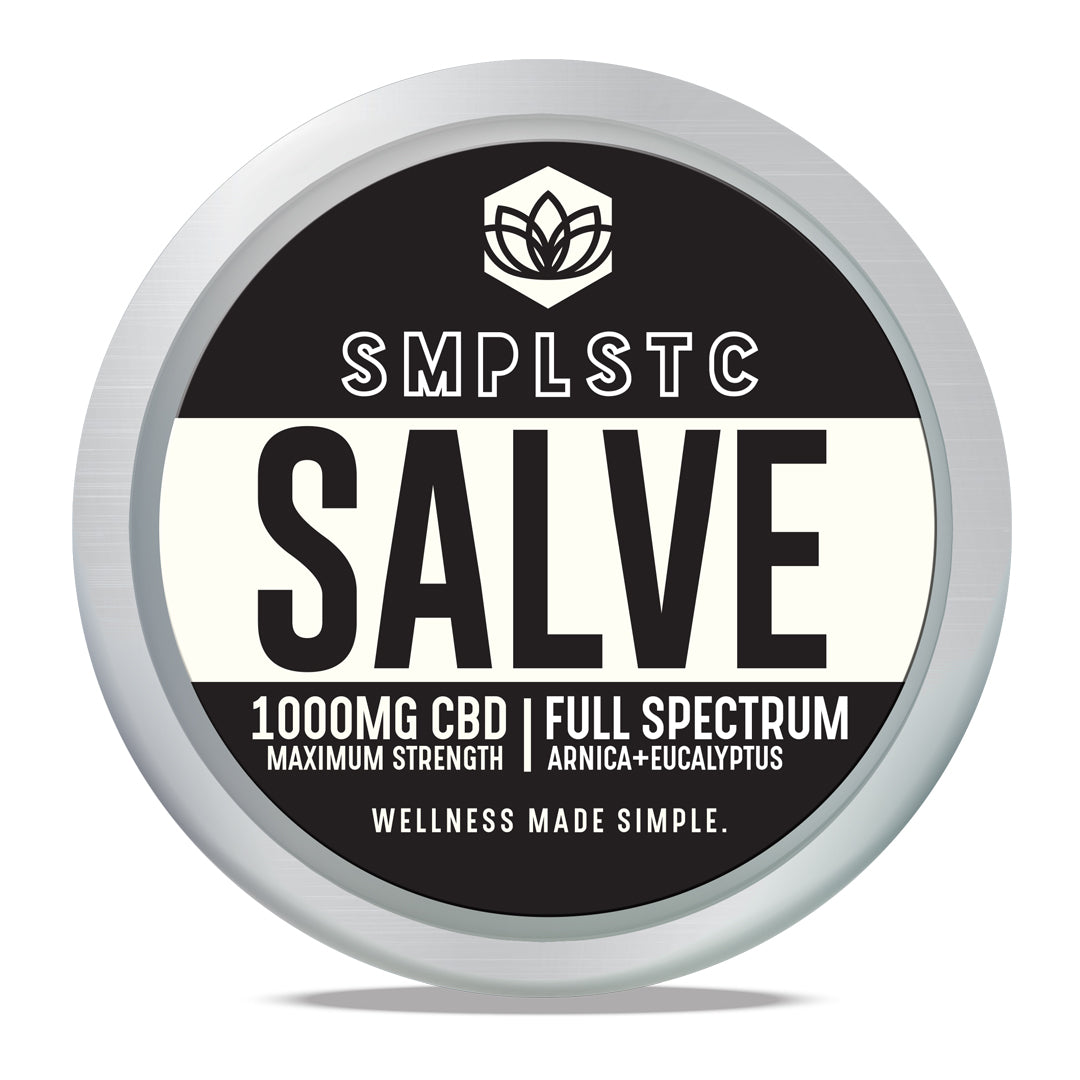 SMPLSTC Full Spectrum CBD Salve - 1000mg for sale at Modest Hemp Co.
