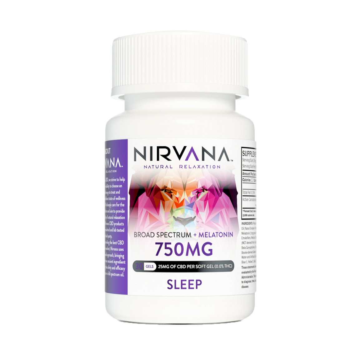 Nirvana CBD Capsules- Sleep Gel Caps at Modest Hemp Co.