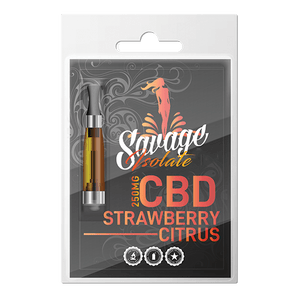 Savage CBD Vape Cartridge- Strawberry Citrus Isolate at Modest Hemp Co.