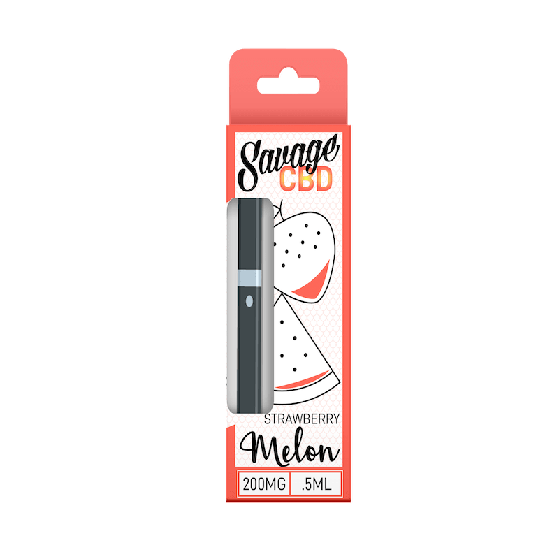Savage CBD Disposable CBD Oil Vape Pen- Strawberry Melon - Modest Hemp Co.