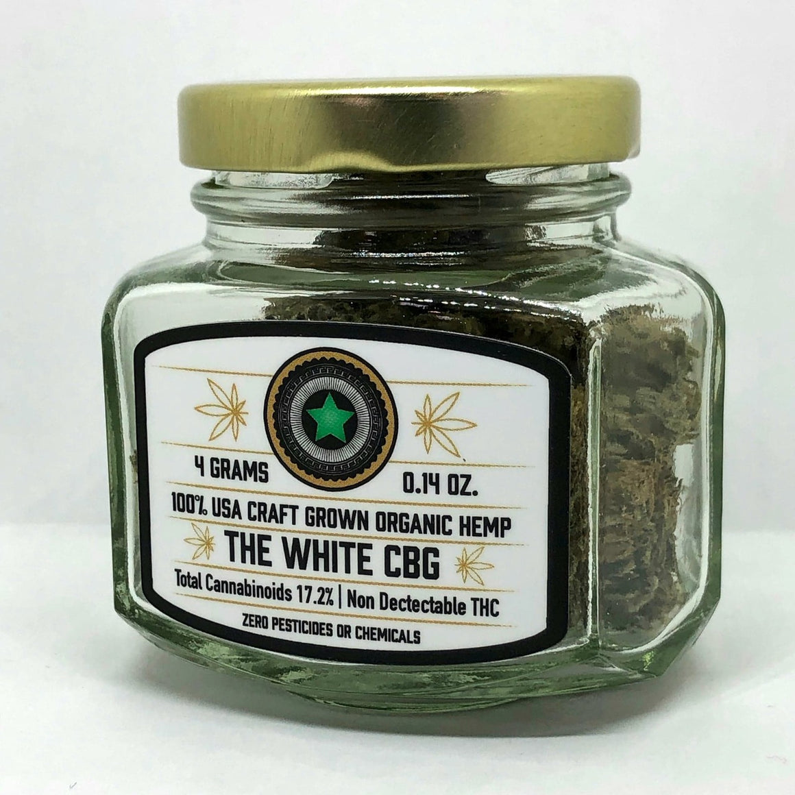 Helping Friendly  CBD Hemp Flower - The White CBG at Modest Hemp Co.