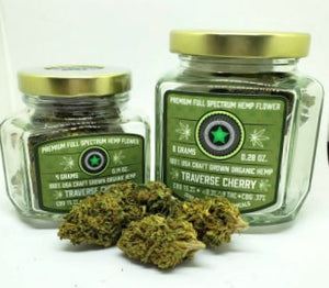 Helping Friendly CBD Hemp Flower - Traverse Cherry at Modest Hemp Co.