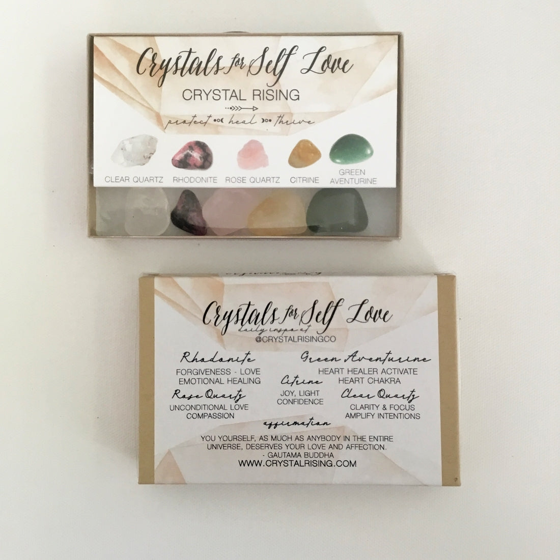 Crystal Rising - Crystals For Self Love Box Set - for sale at Modest Hemp Co.